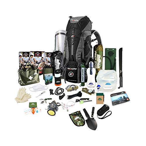 Prep Store - Quick Plus - Emergency Survival Pack - 48 Hr. Food Supply - Survival Kit - Bugout Bag - Hurricane Emergency Kit - Survival Bag - Bug Out Bag (Quick Plus Kit)