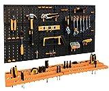 Storalex Garage Tool Rack/Organiser with 50 Hooks