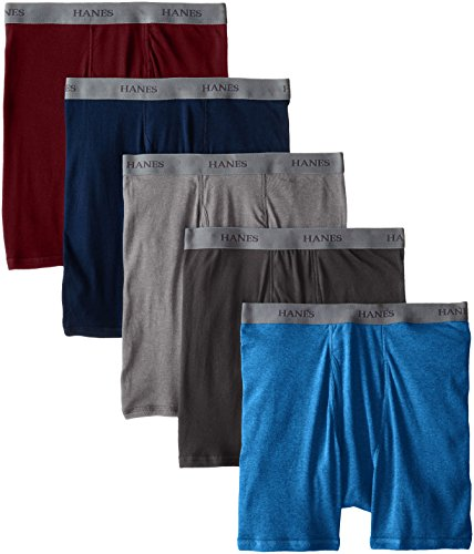Hanes Ultimate Men's 5-Pack Dyed Boxer Brief - Colors May Vary, Assorted Colors, Small