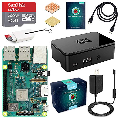 ABOX Raspberry Pi 3 B+ Complete Starter Kit with Model B Plus Motherboard 32GB Micro SD Card
