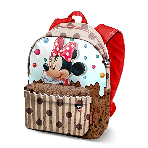 KARACTERMANIA Minnie Mouse Muffin-Freetime Backpack Rucksack, 42 cm, 21 liters, Braun (Brown)