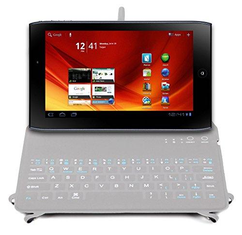 DURAGADGET Black QWERTY Keyboard Case (250 x 138 x 15mm) - Compatible with Acer Iconia Tab A100 | Tab A110 | Tab B1-A71 | Giordano B1-A71 | Tab B1-710 | B1-721 & One 7 B1-730 Tablets