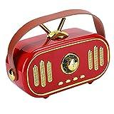Vipxyc Altavoces Bluetooth Retro, Altavoz estéreo para Exteriores de Audio Vintage para el hogar, Altavoz portátil Vintage, Tarjeta de conexión de Soporte y función de Radio(Red)