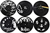 Our Casa Coasters For Drinks | Home Decor Music Coaster (6-Piece Set) With Vinyl Record Design |...