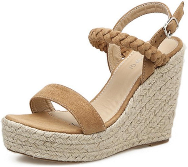 IINFINE Women's Summer High Heel Platform Wedge shoes Open Toe Strappy Sandals