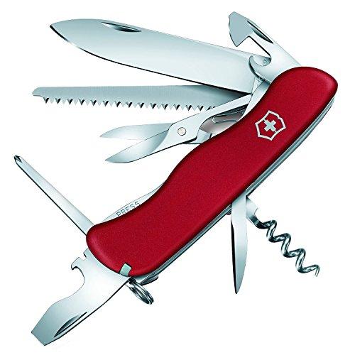 Victorinox Outrider Taschenmesser, 14 Funktionen, Schere, Phillips-Schraubendreher, rot B1