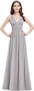 Ever-Pretty Sleeveless V-Neck Empire Waist A Line Classic Semi-Formal Chiffon Maxi Dress 09016