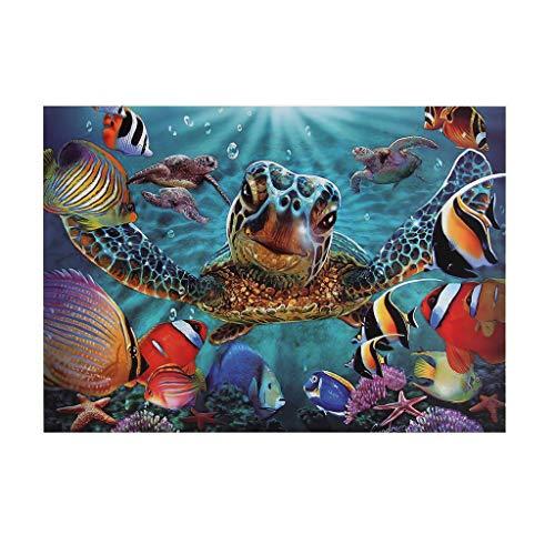 Klassische Puzzles 1000 Teile, 70x50cm, Jigsaw Puzzle Impossible Puzzle für Erwachsene Kinder, Wand Dekoration, Geschicklichkeitsspiel für die ganze Familie 1FF0 (Meeresschildkröte)