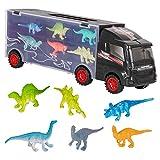 m zimoon Giocattoli del Camion, Camion del Trasportatore Camion per Il Trasporto di Dinosauri con 12 Mini Dinosauri di Plastica per i Bambini