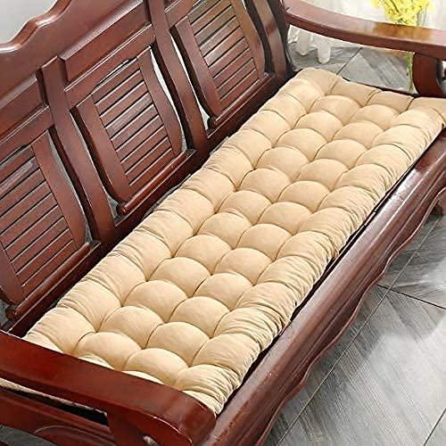 Thicken Alargar Cojín de banco para chaise lounge, Cojín para silla reclinable con respaldo alto, Cojín de masaje para sillón Chaise Lounge para mecedora de interior y exterior (Beige, 150x48cm-1pc