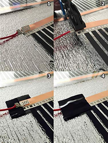 Fußbodenheizung Infrarot Heizplatte Folie Matte 500 mm Bild 2*