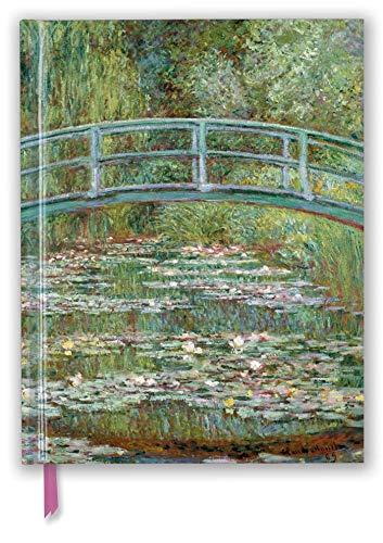 Premium Skizzenbuch: Claude Monet, Die japanische Brücke: Unser hochwertiges Blankbook mit festem, künstlerisch geprägtem Einband im Format 28 cm x 21,6 cm