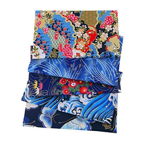 5 Piezas Tela Algodon Patchwork 20 X 25 Cm, Tela De Algodón Telas Patchwork, DIY Tela De Retazos para Costura Manualidades Álbumes De Recortes