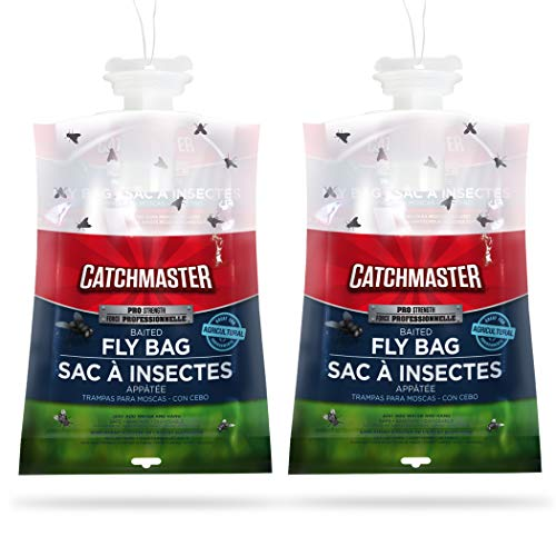 Catchmaster X-Large Outdoor Disposable Fly Bag Trap - Bulk Pack of 2 Fly Bags