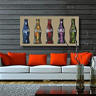 CHASOE No Frame Still Life Hand Painted Canvas Oil Paintings Coke Bottle Modern Oil Painting Wall Art For Home Decoration Oil Painting