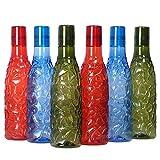 Urban king Plastic Water Bottle for Fridge |Checkered| Leak-Proof | Water Bottles - 1 Litre randomy Any Colors Will Come (Set of 6)