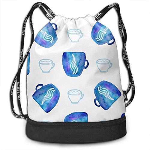 Vasos de acuarela multifuncionales, unisex, mochila de doble hombro, mochila para escuela,...