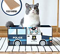 Eonpet猫スクラッチボード段ボール紙猫爪プレート研削爪猫スクラッチ巣パッドグラブボックス猫おもちゃカートン用品 (パトカー)