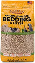 Sunseed Natural Corn Cob Bedding & Litter for Pet Birds and Small Animals – Made in USA – 350 Cubic Inches