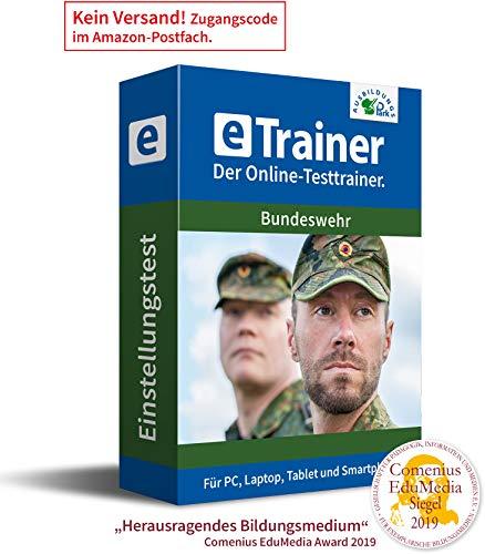 Einstellungstest Bundeswehr 2020: eTrainer – Der Online-Testtrainer | Über 2.000 Aufgaben mit Lösungen: Wissen, Sprache, Mathe, Logik, Technik, Konzentration und mehr | Eignungstest üben