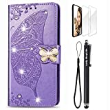 OnePlus 7T Wallet Case, Handmade 3D Bling Diamond Floral...