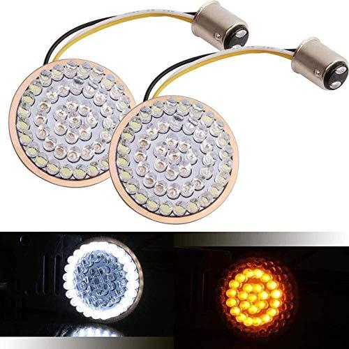 FCXBQ Luces de Giro Aptos para Motocicleta proyector LED Faro Conjunto ámbar Blanco, Color: señal de Giro Lámpara indicadora