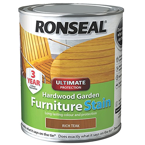 Ronseal HWFSRT50 Hardwood FurnIture Stain Rich Teak 750 ml