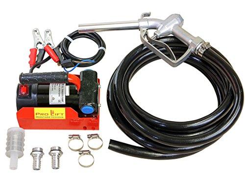 Pro-Lift-Montagetechnik 24V Dieselpumpe, Heizölpumpe, Set mit Pistole + Schlauch, 00275