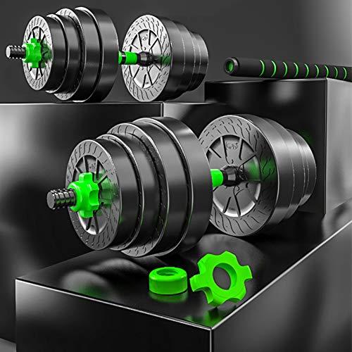 Zzzy 2 In1 Hantelset Kurzhantelstange, Hantelscheiben Home Gym, Lang- Kurzhantel Hantel Set, Kurzhanteln Set, Verbindungsstahlrohr, Kurzhantelset,Two Weights,10 kg