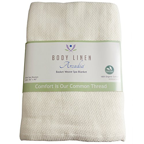 Body Linen Organic Basket Weave Spa Blanket