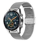 Correa para Galaxy Watch 3 45mm/Huawei Watch GT 46mm, 22 mm Correa de Acero Inoxidable Correa de...