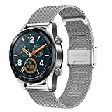 Cinturino per Galaxy Watch 3 45mm/Huawei Watch GT 46mm, 22mm Cinturino per Orologio in Acciaio Inossidabile Intrecciato a Rete per Galaxy Watch 46mm/Gear S3 Frontier/Classic/Huawei Watch GT 2 46mm