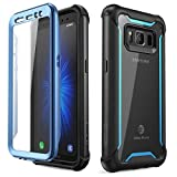 i-Blason Case for Galaxy S8 Active 2017 Release, Ares Full-body Rugged Clear Bumper Case with Built-in Screen Protector (Not Fit Regular Galaxy S8/S8 Plus) (Black/Blue)