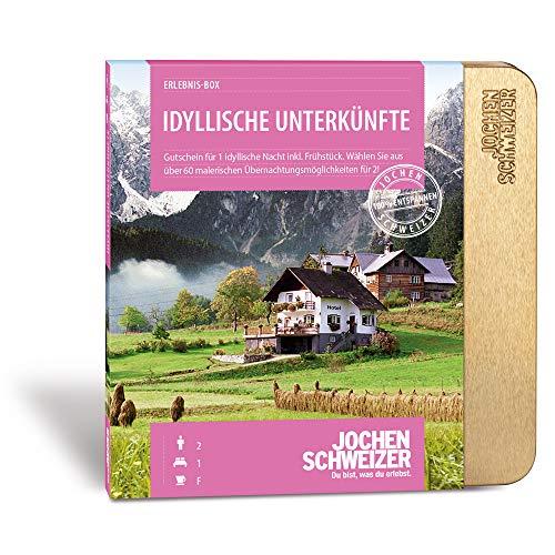 Jochen Schweizer Kurzurlaub-Gutschein Idyllische Unterkünfte, über 60 Hotels, 1 Übernachtung für 2 Personen mit Frühstück, Geschenk für Paare