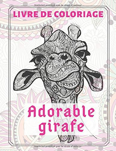 Adorable girafe - Livre de coloriage PDF Books