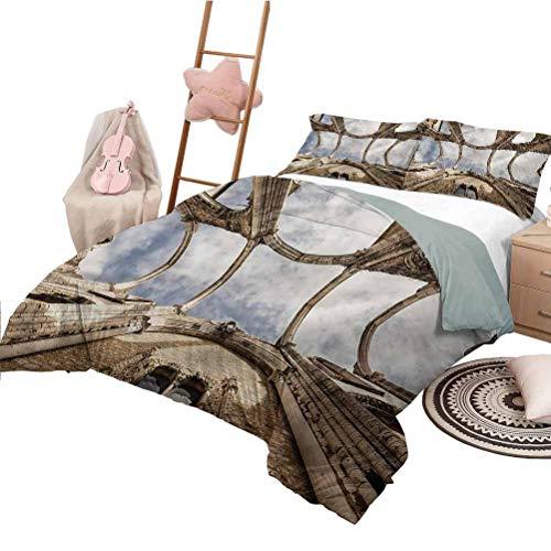 Nomorer Funda nórdica King Size Antique Pattern Bed Cubra la Vista hacia Arriba de Las ruinas de Carmo