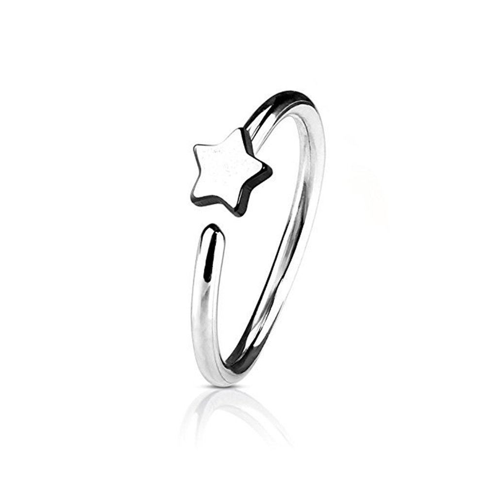 Nose Hoop Rings Nose Pin Bone Stud Piercing Men Women Star Fake