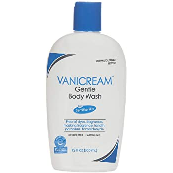 Vanicream Gentle Body Wash   Fragrance, Gluten and Sulfate Free   For Sensitive Skin   12 Ounce