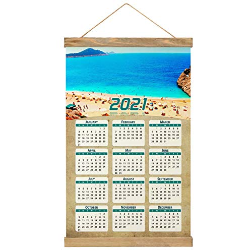 Turkey Kaputas Antalya Beach Wall Calendar 2021 12 months Canvas Wood 20.4' x 13.1' (GL-Turkey-5798)