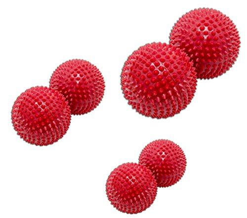Magnet Akupunktur Massage Kugeln | 3x2er Sets | ca. 32mm Ø, 45mm Ø, 55mm Ø (Rot | 32mmØ,45mmØ,55mmØ)