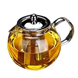 OBOR Glass Tea Pot with Infuser - OBOR Teapot for Blooming and Loose Leaf Borosilicate Tea Maker, Tea Kettle...