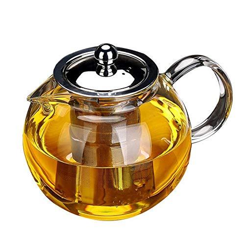 Obor Théière en verre avec infuseur – Théière Obor pour fleurs et feuilles en vrac en borosilicate 950 ml.