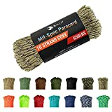 Balit 550 Paracord/Parachute Cord 100 Feet Mil-Spec Paracord 10-Strand Core 650ld Nylon Parachute for Outdoor Emergency Tactical Survival Camping Hiking Bracelet(Camouflage)