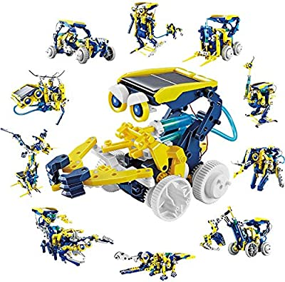 CIRO Solar Robot Kit 11 in 1 Educational STEM Learning Science Building Toys for Kids Age 8-12