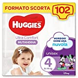 Huggies Ultra Comfort - Pañal braguita, talla 4 (9-14 kg), paquete de 102 pañales