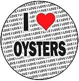 Decoración para tarta redonda con texto 'I Love Oysters', 20 cm