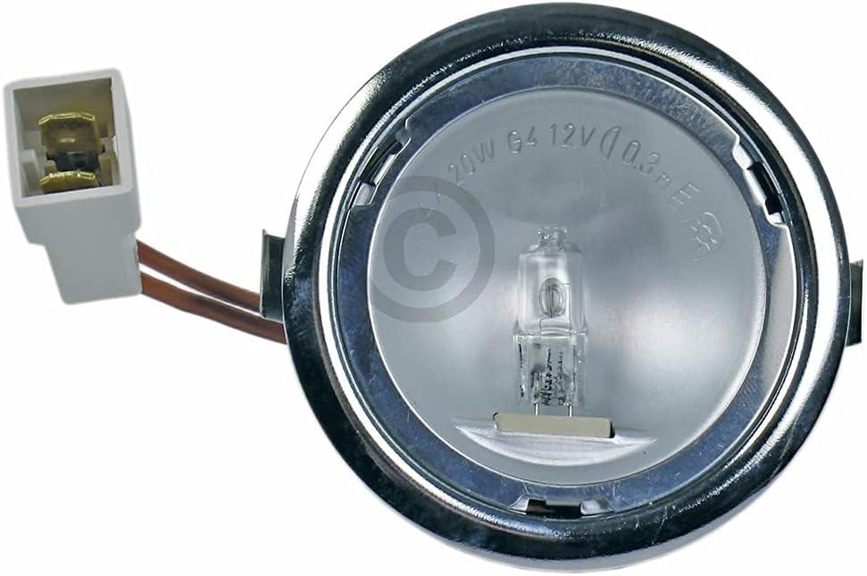 DL-pro Lámpara halógena para AEG Electrolux Juno Zanussi 5026158400/2 50261584002 5026158400 con carcasa para campana extractora extractora