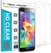 Tech Armor Anti-Glare/Anti-Fingerprint Matte Film Screen Protectors for Samsung Galaxy S5 [3-Pack]