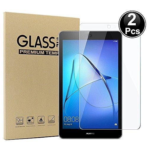 """2x Huawei MediaPad T3 7.0"""" Inch Displayschutzfolie, Ash-case HD Ultra-klar Anti-Kratz Anti-Fingerabdruck Displayschutzfolie Glas Panzerglas Folie Screen Protector (Vollständige Abdeckung)"""