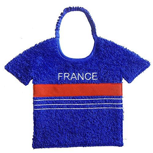 Zigozago - Bavoir pour bébé fait à la main en forme de équipe de football France; Bavoir avec élastique ; Taille: Unique